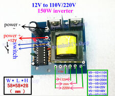 DC-AC 12V to 110V 220V Converter 175V AC 150W Inverter Boost Transformer Board