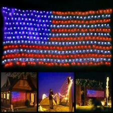 110V LED Flag Net Lights American Flag Lights For Festival Decor Outdoor In M5O6