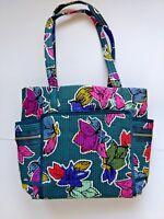 Vera Bradley purse handbag Iconic Deluxe Small Vera Tote in Falling Flowers NWT