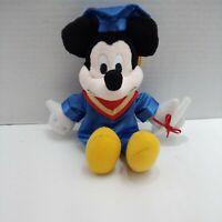 "Disney Mickey Mouse Graduate Graduation  Plush 8"""