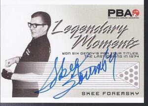 2008 PBA Bowling Autograph Legendary Moments Skee Foremsky