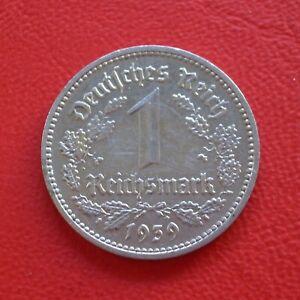 1 Reichsmark 1939 F vf German Reich / Third Km# 78 J#354