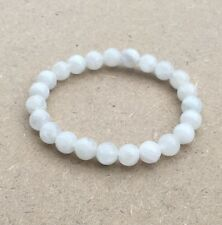 Natural Moonstone Beads Bracelet Gemstone Bangle Jewelry August Birthstone