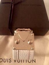 Auth LOUIS VUITTON Suhali Bracelet Gold Brass S Lock Chèvre Leather x Bag + Box