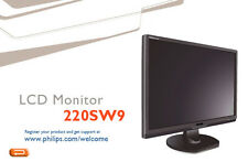 Monitor Users Manual Philips LCD 220SW9 Instructions Troubleshooting CD Guide