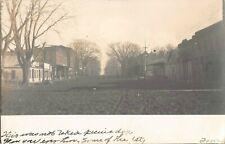 Augusta Illinois real photo postcard street scene dirt road 1907
