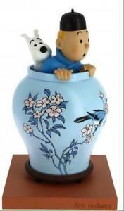 """Hergé – Tintin et Milou Potiche Le Lotus Bleu Collection """"Les Icônes"""" Moulinsart"""