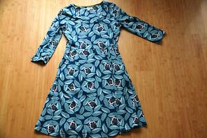 White Stuff, Kleid, ¾ Arm, blau, Taschen, Gr. 38, schöner Schnitt