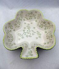 Temp-Tations by Tara - Floral Lace Green - Shamrock shaped Bowl - 2 QT - New