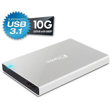 "extern HDD Gehäuse FANTEC ALU-25B31 SATA 2,5"" USB 3.1 Alu Silber"