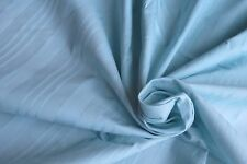 "Light blue striped cotton cushion bed sheet fabric 140cm (55"") width Sold by mtr"