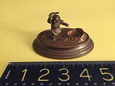ANTIQUE Gilded Vienna Bronze/German woodcutter GNOME-sculpture paperweight RARE