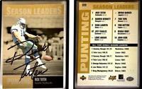 Rick Tuten Signed 1996 Upper Deck Silver #223 Card Seattle Seahawks Auto Autogra