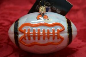 """OSU Cowboys 4.5""""  glass Christmas ornament officially licensed Joy to the World"""