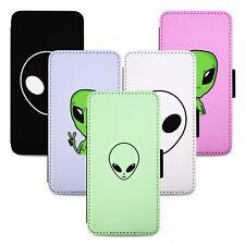 Alien Extraterrestrial Flip Phone Case Cover Wallet - Fits Iphone 5 6 7 8 X 11