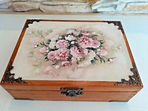 Wooden Keepsake Box, Decorative Box, Wood Box, Jewelry Box, Tea Bag Box, Pat 1