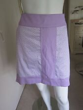 Greg Norman lilac print Golf  SKORT skirt size 12  retail £60