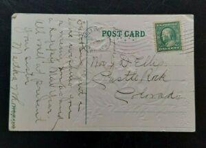 US Franklin 1909 Scott 357 One Cent Bluish Paper