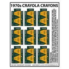 CASA delle bambole miniature Foglio di 9 scatole Crayola Crayon