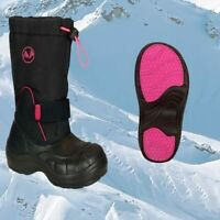Kids Stomp Outdoor Waterproof Faux Fur Lined Snow Boots Wellies Size jnr 12 PINK