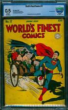 World's Finest Comics # 17 Superman/Batman !  CBCS 0.5 scarce Golden Age book !