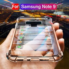 For Samsung Galaxy Note 10 Plus 9 S9 S10 + Soft Silicone Hybrid Clear Case Cover