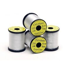 Fly Tying Thread, 2 Spools, Uni Mono Clear Thread, 1 x fine, 1 x med Invisible