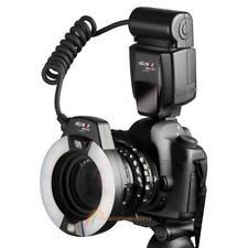 Macro Ring Flash Light w/ 6 Adapter Rings 49mm-67mm for Canon E-TTL DSLR Camera