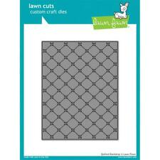 Lawn Fawn Lawn Cuts Custom Craft Die Quilted Backdrop