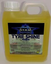 5Star Trade Valet OIL Tyre Slik Instant Tyre Shine DRESSING On Or Brush 1Litre