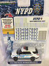 Greenlight 1/64 NYPD New York City Police Ford PI Utility SUV  w/ Unit # Decals
