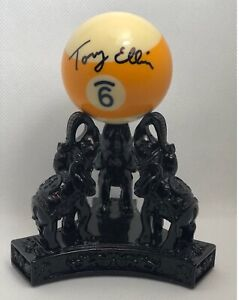 Tony Ellin Autographed 9-Ball Pool Deceased Billiard Player