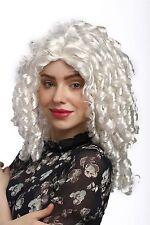 Perücke Damen Karneval Cosplay Gothic Lolita Barock Mittelscheitel Locken Weiß