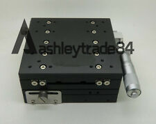 XY-Axis LY125-R Stage Manual Slide Table Trimming platform 125*125mm 57.5mm