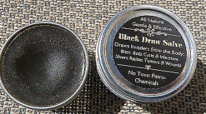 Pure Black Draw Salve~Boils, Cysts, Infections, Slivers~No Petro Toxins  2 oz.