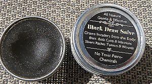 Black Draw Salve~Bites,Boils, Cysts, Infections, Slivers~No Petro Toxins  2 oz.