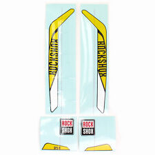 RockShox RS-1 XX Replacement Decal Set // Yellow/White