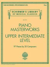 Piano Masterworks Upper Intermediate Level Sheet Music Schirmer NEW 050600035
