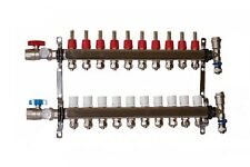 10 Loop 1 Stainless Steel Manifold For Radiant Heating For 12 Pex Tubing