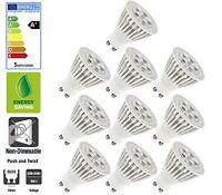10 Pack: Allcam 5W GU10 LED Bulbs Energy Saving 3000K Warm White