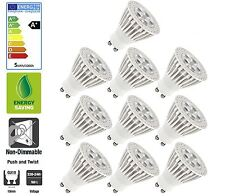 10 Pack: Allcam 5W GU10 LED Bulbs Energy Saving 3000K Warm White