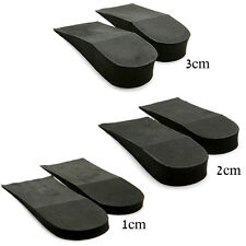 0.39inch~1.18inch up increase height for Unisex shoes black half insoles 1 pairs