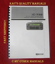 Icom IC-735 Instruction Manual ON 32 LB w/Heavier Covers; **C-MY OTHER MANUALS**