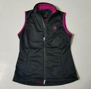 Zero Restriction Tour Series Womens S Softshell Vest Fleece Lined Full Zip EUC