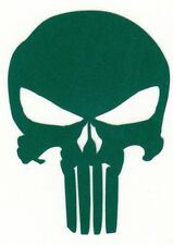 REFLECTIVE Punisher green fire helmet die cut decal window sticker