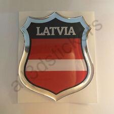 Sticker Latvia Emblem 3D Resin Domed Gel Latvia Flag Vinyl Decal Car Laptop