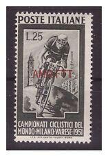 Francobolli della Repubblica italiana dal 1949 al 1955 sul ciclismo
