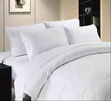 1500 Tc Egyptian Cotton White Solid King Size Sheet Set