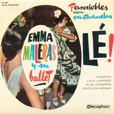 EMMA MALERAS Pasodobles Con Castanuelas SP Press Discophon 17.169 EP