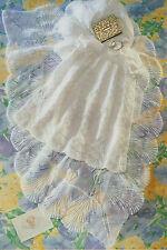 Scalloped Lacy Baby Christening Shawl & Robe - 3 Ply ~ Knitting Pattern